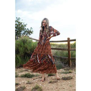 Fig and Flower Veronica Cooper Bohemian Maxi Dress